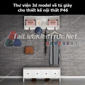 Thư viện 3d model về tủ giày cho thiết kế nội thất p46