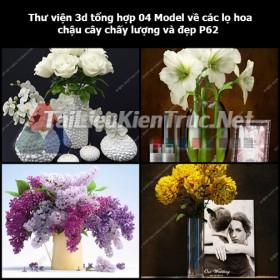 Thư viện 3d tổng hợp 04 Model về các lọ hoa, chậu cây chất lượng và đẹp P62