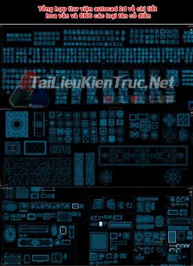 Tổng hợp thư viện autocad 2d về chi tiết hoa văn và CNC các loại tân cổ điển