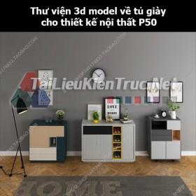 Thư viện 3d model về tủ giày cho thiết kế nội thất p50