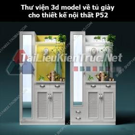 Thư viện 3d model về tủ giày cho thiết kế nội thất p52