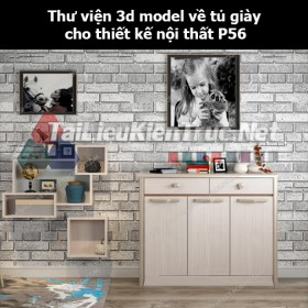 Thư viện 3d model về tủ giày cho thiết kế nội thất p56