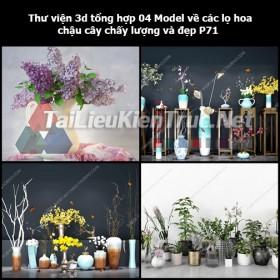 Thư viện 3d tổng hợp 04 Model về các lọ hoa, chậu cây chất lượng và đẹp P71