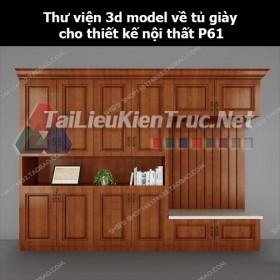 Thư viện 3d model về tủ giày cho thiết kế nội thất p61