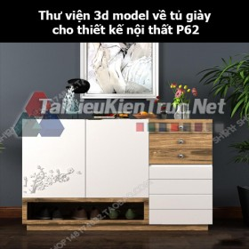 Thư viện 3d model về tủ giày cho thiết kế nội thất p62