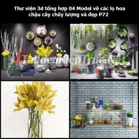 Thư viện 3d tổng hợp 04 Model về các lọ hoa, chậu cây chất lượng và đẹp P72