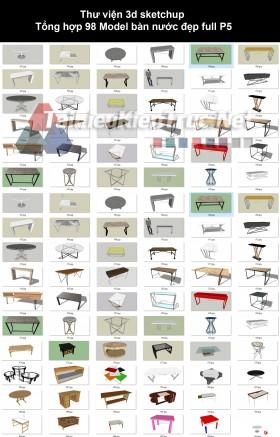 Thư viện 3d sketchup Tổng hợp 98 Model bàn nước đẹp full P5