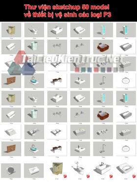Thư viện sketchup 50 model về thiết bị vệ sinh các loại P3