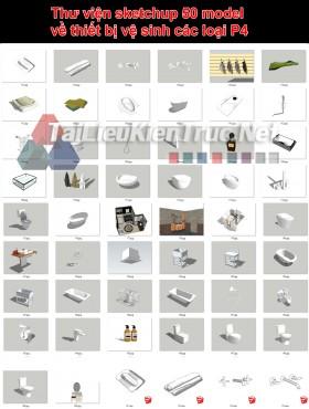 Thư viện sketchup 50 model về thiết bị vệ sinh các loại P4