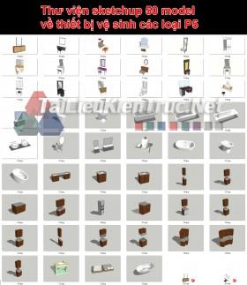 Thư viện sketchup 50 model về thiết bị vệ sinh các loại P5