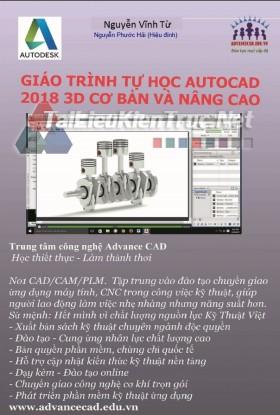 Giáo trình AutoCAD 2018 3D cơ bản và nâng cao Nguyễn Vĩnh Từ