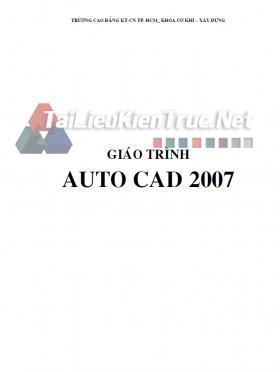 Giáo trình AUTO CAD 2007 trường KTCN Tp Hồ Chí Minh