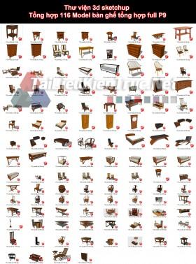 Thư viện 3d sketchup Tổng hợp 116 Model bàn ghế tổng hợp full P9