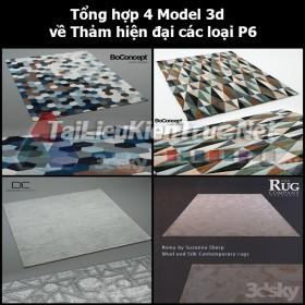 Tổng hợp 04 Model 3d về Thảm hiện đại các loại p6