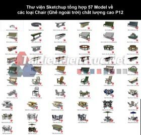 Thư viện Sketchup tổng hợp 57 Model về các loại Chair (Ghế ngoài trời) chất lượng cao P12