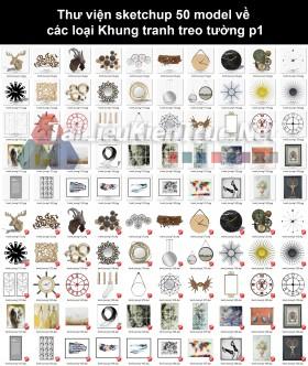 Thư viện sketchup 50 model về các loại Khung tranh treo tường p1