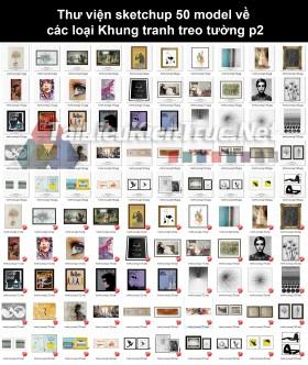 Thư viện sketchup 50 model về các loại Khung tranh treo tường p2