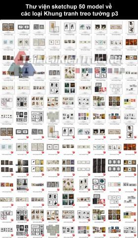 Thư viện sketchup 63 model về các loại Khung tranh treo tường p3