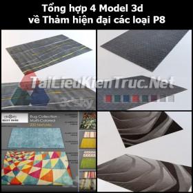 Tổng hợp 04 Model 3d về Thảm hiện đại các loại p8