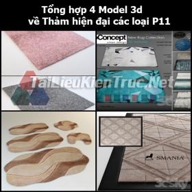 Tổng hợp 04 Model 3d về Thảm hiện đại các loại p11