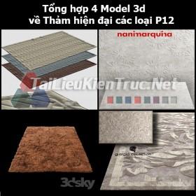 Tổng hợp 04 Model 3d về Thảm hiện đại các loại p12
