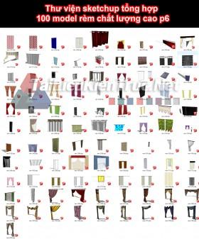 Thư viện sketchup tổng hợp 100 model rèm chất lượng cao p6