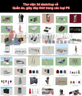 Thư viện 3d sketchup về Quần áo, giày dép thời trang các loại P5