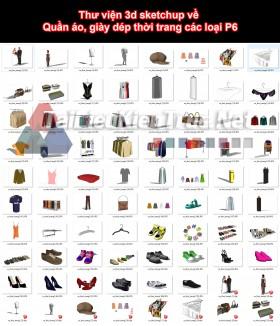 Thư viện 3d sketchup về Quần áo, giày dép thời trang các loại P6