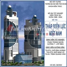 Đồ án tốt nghiệp KTS - Tháp điện lực Việt Nam