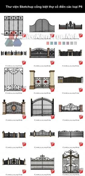 Thư viện Sketchup cổng biệt thự cổ điển các loại P8