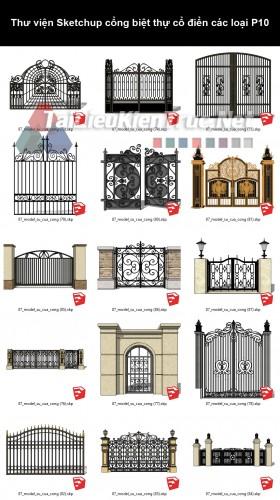 Thư viện Sketchup cổng biệt thự cổ điển các loại P10