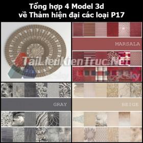 Tổng hợp 04 Model 3d về Thảm hiện đại các loại p17