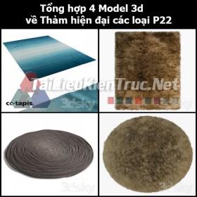Tổng hợp 04 Model 3d về Thảm hiện đại các loại p22