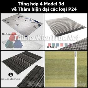 Tổng hợp 04 Model 3d về Thảm hiện đại các loại p24