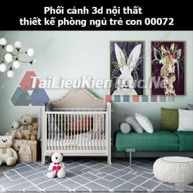 Phối cảnh 3d nội thất thiết kế phòng ngủ trẻ con 00072