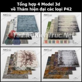 Tổng hợp 04 Model 3d về Thảm hiện đại các loại p42
