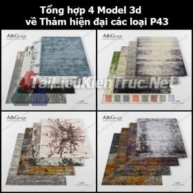 Tổng hợp 04 Model 3d về Thảm hiện đại các loại p43