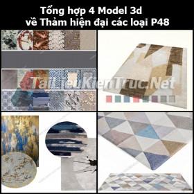 Tổng hợp 04 Model 3d về Thảm hiện đại các loại p48