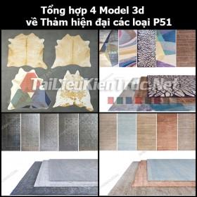 Tổng hợp 04 Model 3d về Thảm hiện đại các loại p51