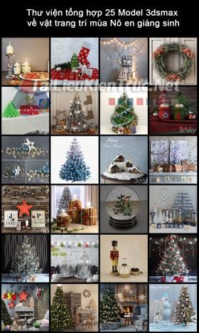 Thư viện tổng hợp 25 Model 3dsmax về vật trang trí mùa Nô en giáng sinh
