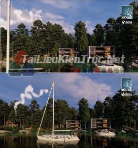 Thư viện Lumion ngoại thất phối cảnh công trình Waterfront house