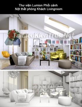 Thư viện Lumion Phối cảnh Nột thất phòng khách Livingroom