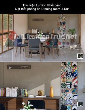 Thư viện Lumion Phối cảnh Nột thất phòng ăn Dinning room -LU01