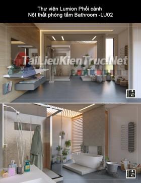 Thư viện Lumion Phối cảnh Nột thất phòng tắm Bathroom -LU02