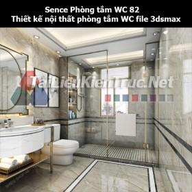 Sence Phòng tắm WC 82 - Thiết kế nội thất phòng tắm + Wc file 3dsmax