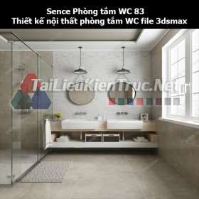Sence Phòng tắm WC 83 - Thiết kế nội thất phòng tắm + Wc file 3dsmax
