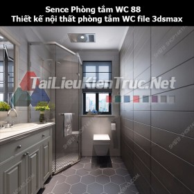 Sence Phòng tắm WC 88 - Thiết kế nội thất phòng tắm + Wc file 3dsmax