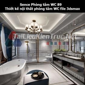 Sence Phòng tắm WC 89 - Thiết kế nội thất phòng tắm + Wc file 3dsmax