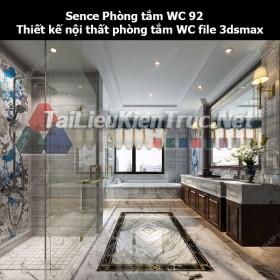 Sence Phòng tắm WC 92 - Thiết kế nội thất phòng tắm + Wc file 3dsmax