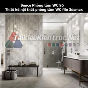 Sence Phòng tắm WC 95 - Thiết kế nội thất phòng tắm + Wc file 3dsmax